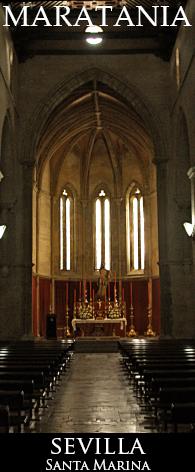 santa marina.nave central con el cristo resucitado al fondo