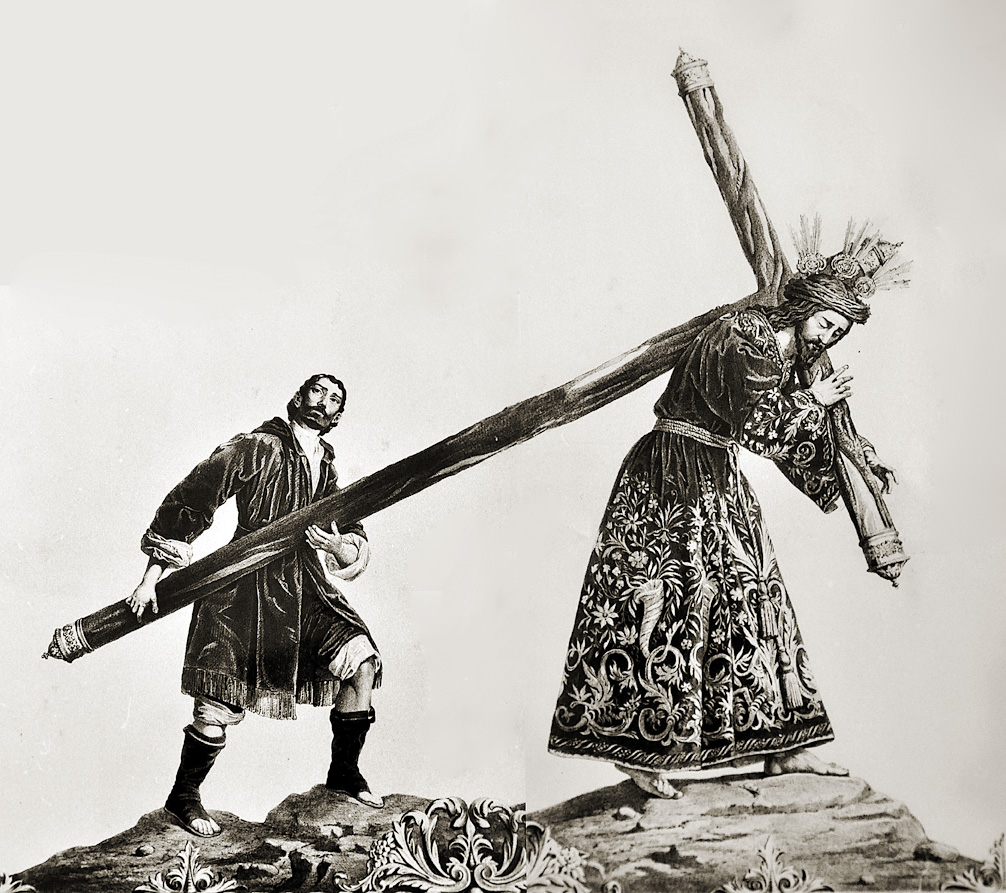 Nuestro Padre Jesús de la Pasión en un grabado de 1846