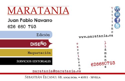 tarjeta de visita 2013 Maratania edición diseño maquetación servicios editoriales10