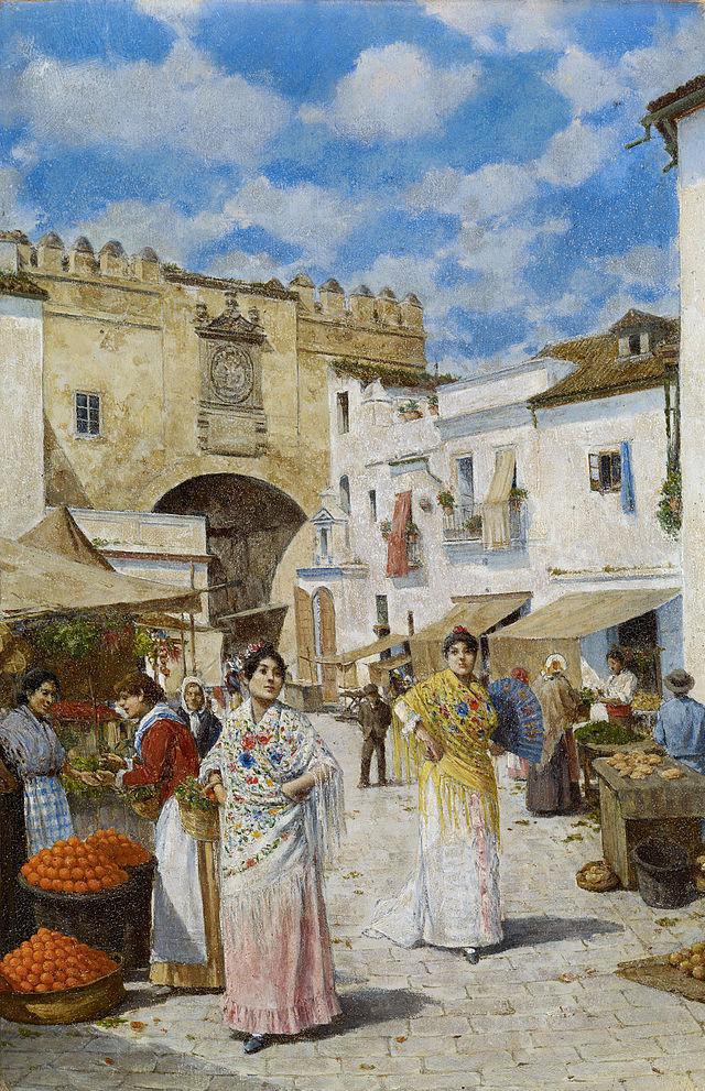 Mercado junto al postigo en una obra de Joaquín Turina en 1907 (Museo Thyssen de Málaga).