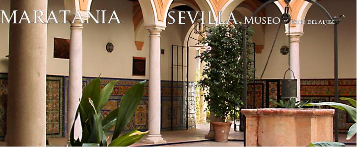 patio del aljibe Escalera Museo Bellas artes sevilla