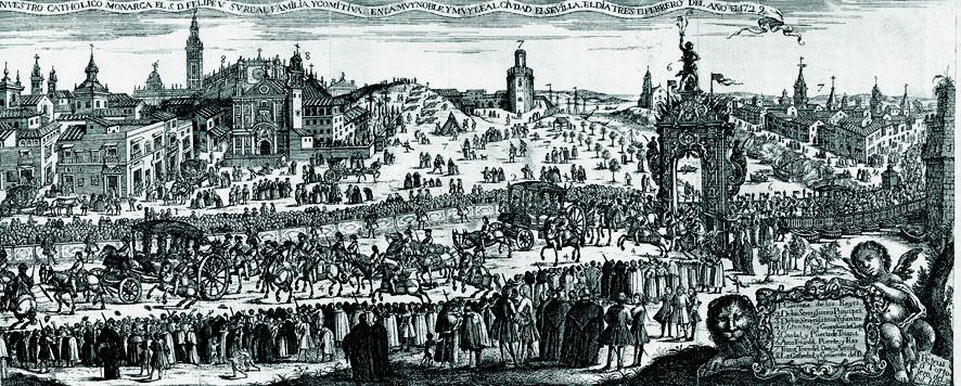 Pedro Tortolero entrda de Felipe V en Sevilla en 1729 2
