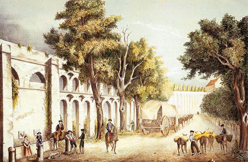Caños de Carmona Litografía de Joaquín Guichot h.1860 (FOCUS)