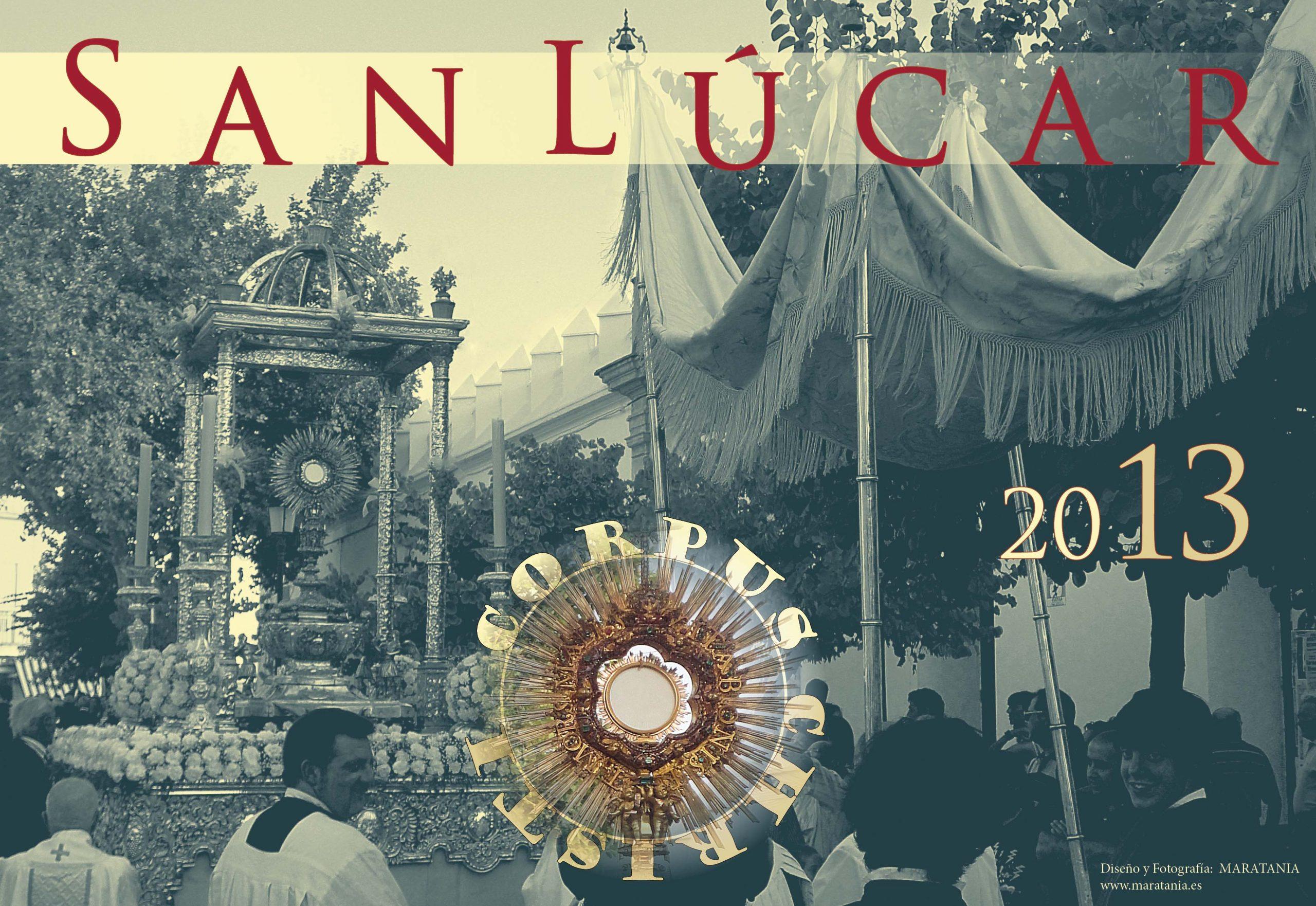 Maratania os invita con este cartel al Corpus de Sanlúcar.