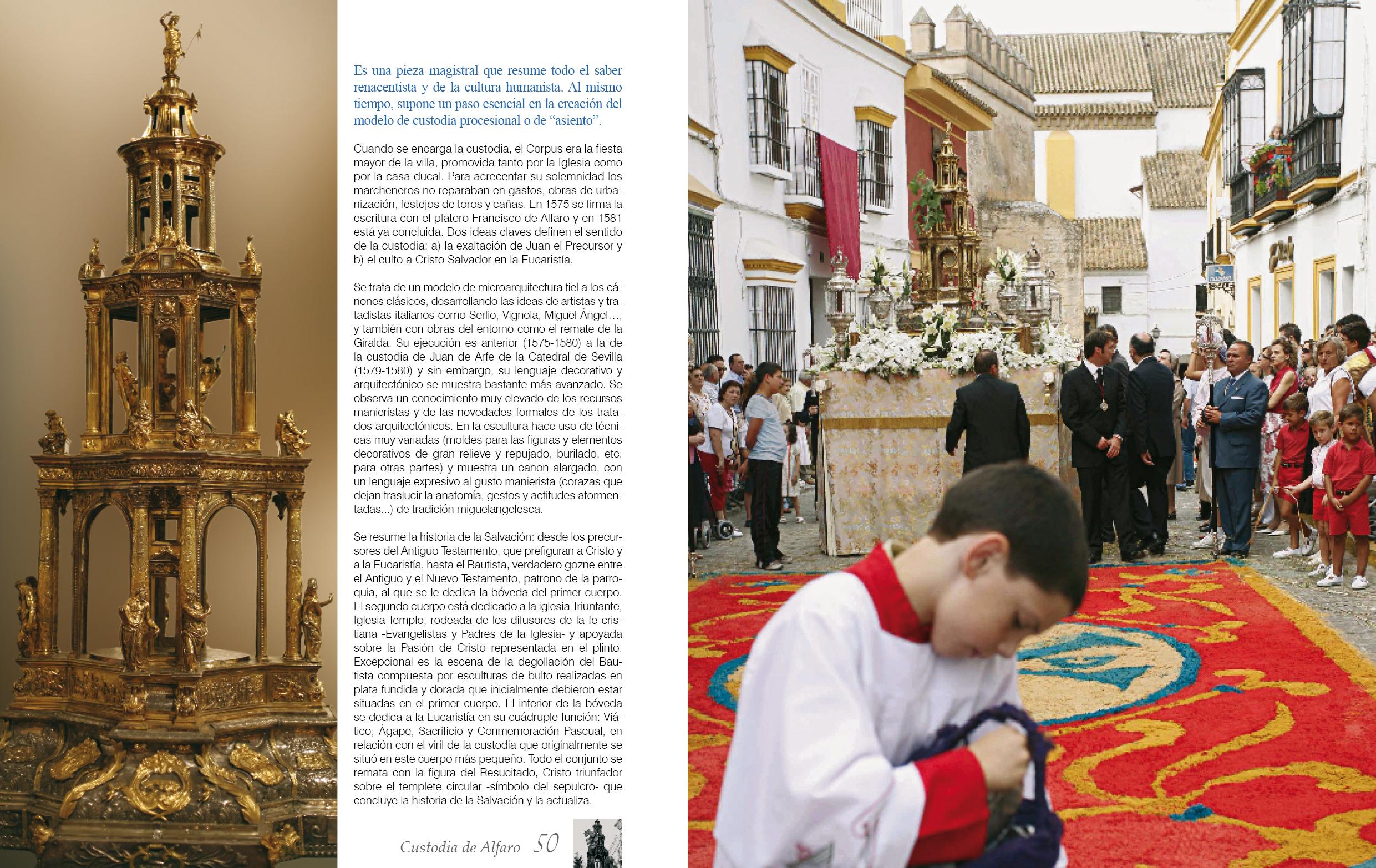 El Corpus en Marchena en nuestro libro sobre la Parrquia de San Juan. Fotos: José Luis Navarro