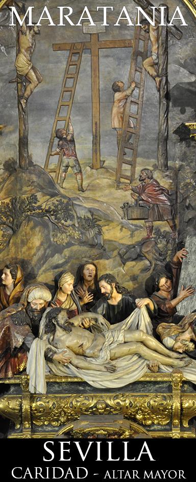 """Y Cristo """"descendió a los infiernos"""", es decir, compartió nuestra obligada muerte. Retablo Mayor de la Caridad - Pedro Roldán"""