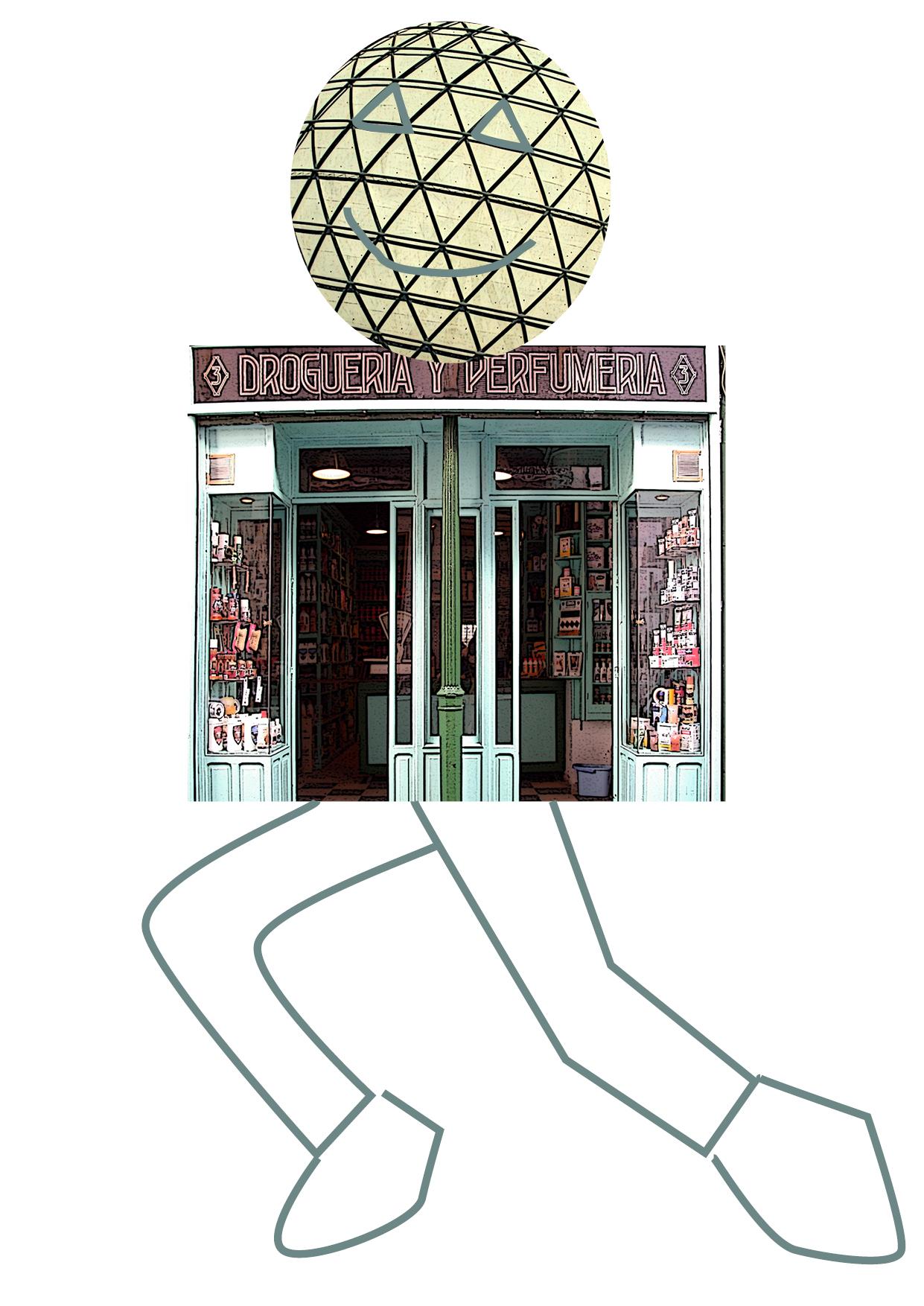 tienda con piernas