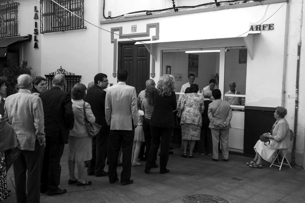 La churrería del Postigo un día del Corpus. Foto: Eduardo Briones