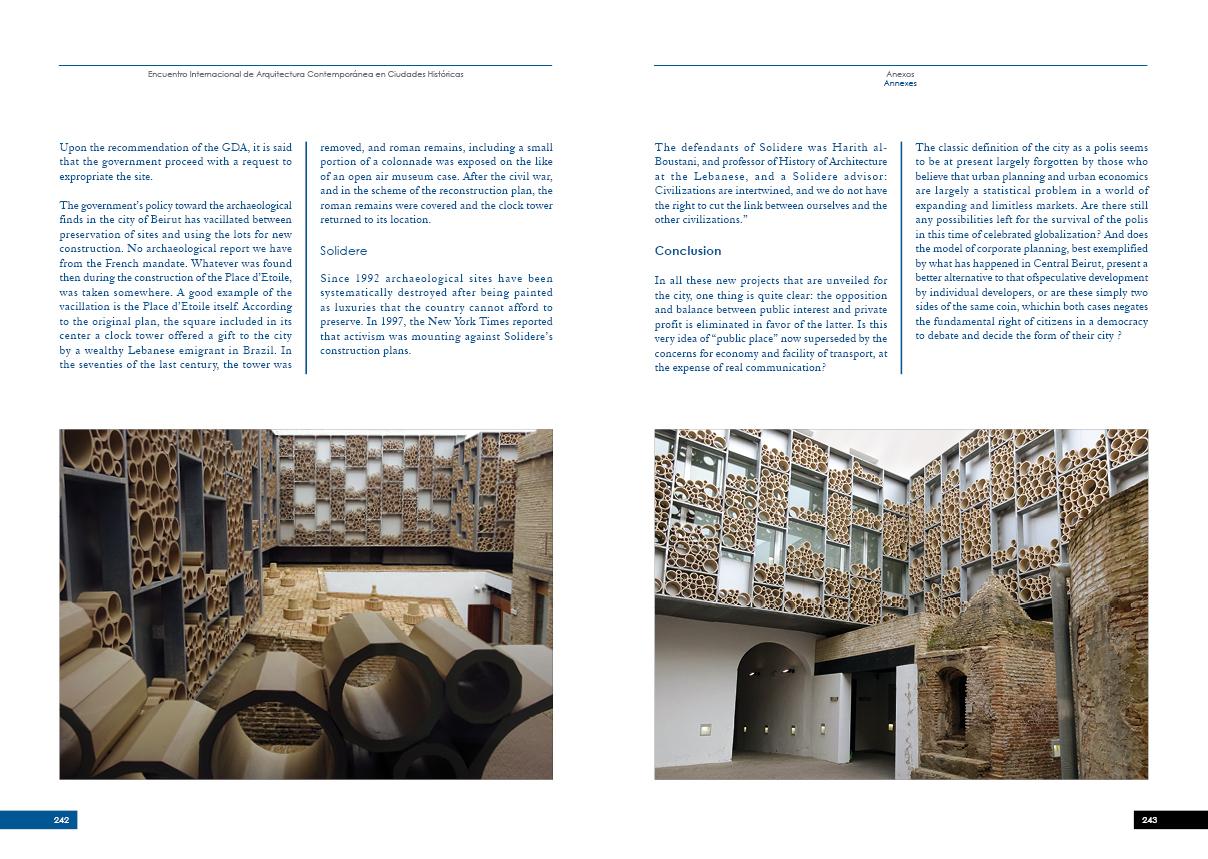 ENCUENTRO INTERNACIONAL DE ARQUITECTURA CONTEMPORÁNEA EN CIUDADES HISTÓRICAS122