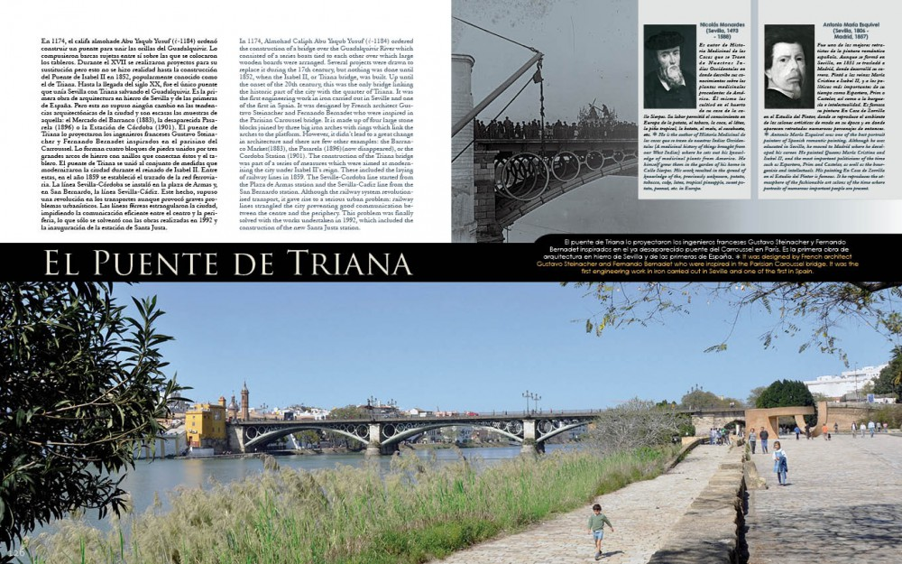 """El puente de Triana en nuestro libro """"Y Sevilla"""""""